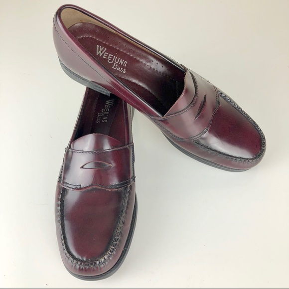 e588e262f45 Bass Shoes - Bass Weejun Penny Loafer Casell Burgundy Wine 8
